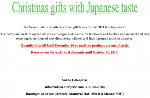 Christmas gift with Japanese taste